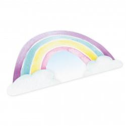 stabiles Vinyl Tischset - Regenbogen
