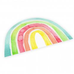 stabiles Vinyl Tischset Kinder Platzset - Regenbogen bunt