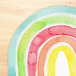 stabiles Vinyl Tischset Regenbogen bunt Kinder Platzset abwaschbar