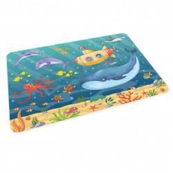 stabiles Vinyl Tischset Kinder Platzset - Unterwasser