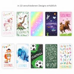 Lesepass Einhorn Lesezeichen zum lesen üben Grundschule
