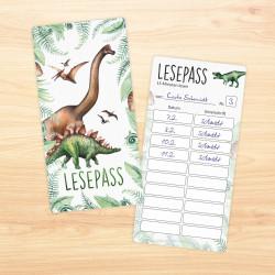 Dinosaurier Lesezeichen zum lesen üben Grundschule