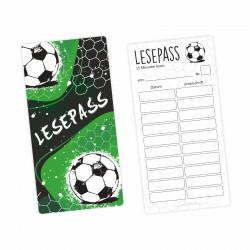 Lesepass Fußball Lesezeichen zum lesen üben Grundschule