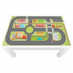 Spielfolie für LACK Tisch klein Hafen und Insel (Möbel nicht inklusive)