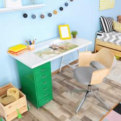 stabile Vinyl Schreibtischunterlage Pferde Bastelmatte Kinder Platzset abwaschbar