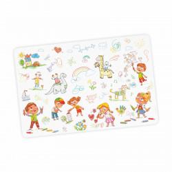 stabile Vinyl Schreibtischunterlage Kinderkritzelei Bastelmatte Kinder Platzset abwaschbar