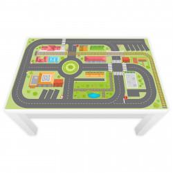 Spielfolie für LACK Tisch groß Hafen und Insel (Möbel nicht inklusive)