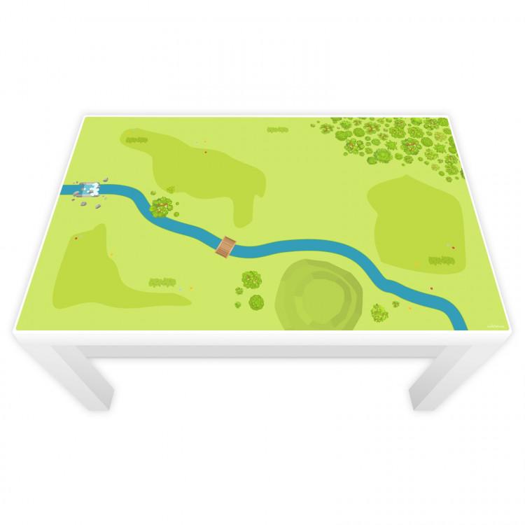 Spielfolie für LACK Tisch klein Wald & Wiese (Möbel nicht inklusive)
