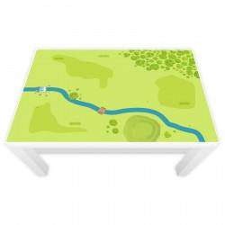 Spielfolie für LACK Tisch groß Wald & Wiese (Möbel nicht inklusive)