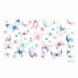 214 Wandtattoo Schmetterlinge Aquarell Butterfly