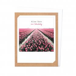 Pickmotion Photo-Klappkarte Alles Gute zum Geburtstag Tulpen (braun)