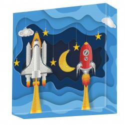 Diamond Dotz Rakete - DOTZ BOX - 22 x 22 x 2 cm