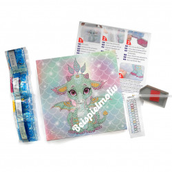 Diamond Dotz Einhorn - DOTZ BOX - 28 x 28 x 2,5 cm