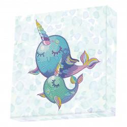 Diamond Dotz Narwal - DOTZ BOX - 22 x 22 x 2 cm
