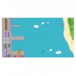 Spielfolie für LACK Tisch klein Hafen & Insel  (Möbel nicht inklusive)