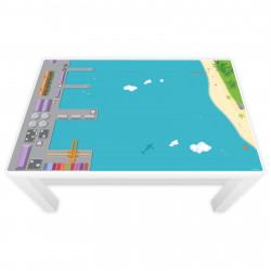 Spielfolie für LACK Tisch groß Hafen & Insel (Möbel nicht inklusive)