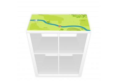 Spielfolie für KALLAX Regal Wald & Wiese (Möbel nicht inklusive)