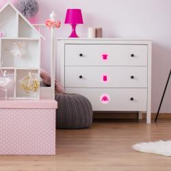 Möbelaufkleber Ordnungssticker für Kleidung pink/ rosa