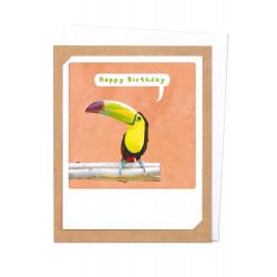 Pickmotion Photo-Klappkarte Happy Birthday Toucan (braun)