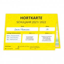 Hortkarte für Schuljahr 2021/2022 A5
