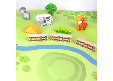 Spielfolie für KALLAX Regal Wald & Wiese lang (Möbel nicht inklusive)