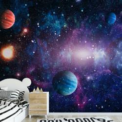 Fototapete Weltall Planeten Vliestapete Kinderzimmer Tapete inkl. Kleister