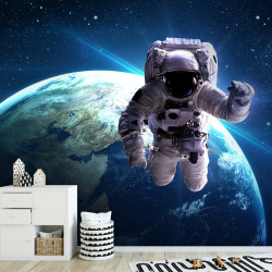 Fototapete Weltall Astronaut Vliestapete Kinderzimmer Tapete inkl. Kleister