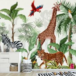 Fototapete Dschungel Vliestapete Kinderzimmer Tapete inkl. Kleister