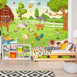 Fototapete Bauernhof Vliestapete Kinderzimmer Tapete inkl. Kleister