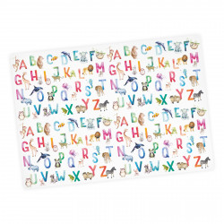 5 Bögen Geschenkpapier Tier ABC Aquarell bunt - 1,60€/m² - 84,1 x 59,4 cm