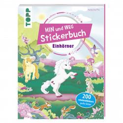 TOPP Hin-und-weg-Stickerbuch Einhörner