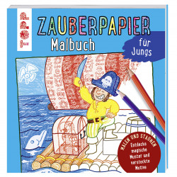 TOPP Zauberpapier Malbuch - Für Jungs