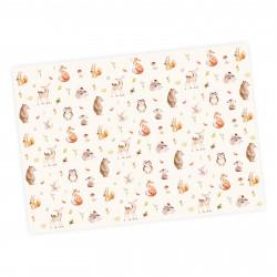 5 Bögen Geschenkpapier Waldtiere  pastell - 1,60€/qm- 84,1 x 59,4 cm