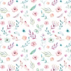 5 Bögen Geschenkpapier Blumen/Federn bunt Aquarell - 1,60€/qm- 84,1 x 59,4 cm