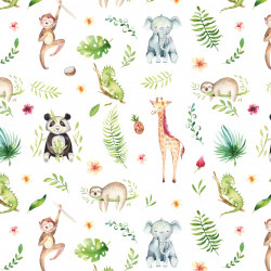 5 Bögen Geschenkpapier Dschungel Tiere bunt - 1,60€/qm- 84,1 x 59,4 cm