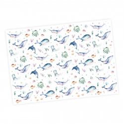 5 Bögen Geschenkpapier Meerestiere bunt Aquarell - 1,60€/qm- 84,1 x 59,4 cm