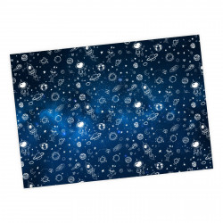 5 Bögen Geschenkpapier Weltall Weltraum - 1,60€/qm- 84,1 x 59,4 cm