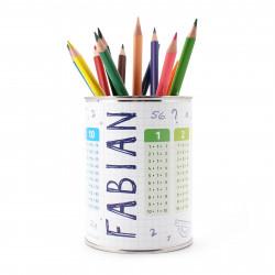 personalisierter Stiftebecher 1x1 mit Namen - OHNE STIFTE - Stifteköcher Stiftehalter
