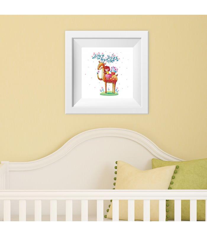003 kinderzimmer bild hirsch. Black Bedroom Furniture Sets. Home Design Ideas