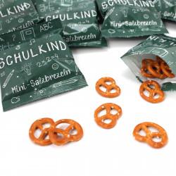 10 Tüten Mini Salzbrezeln - SCHULKIND - Gastgeschenk Einschulung Laugengebäck