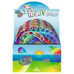 MOSES bunter Soft Frisbee - Wurfscheibe geht im Wasser nicht unter