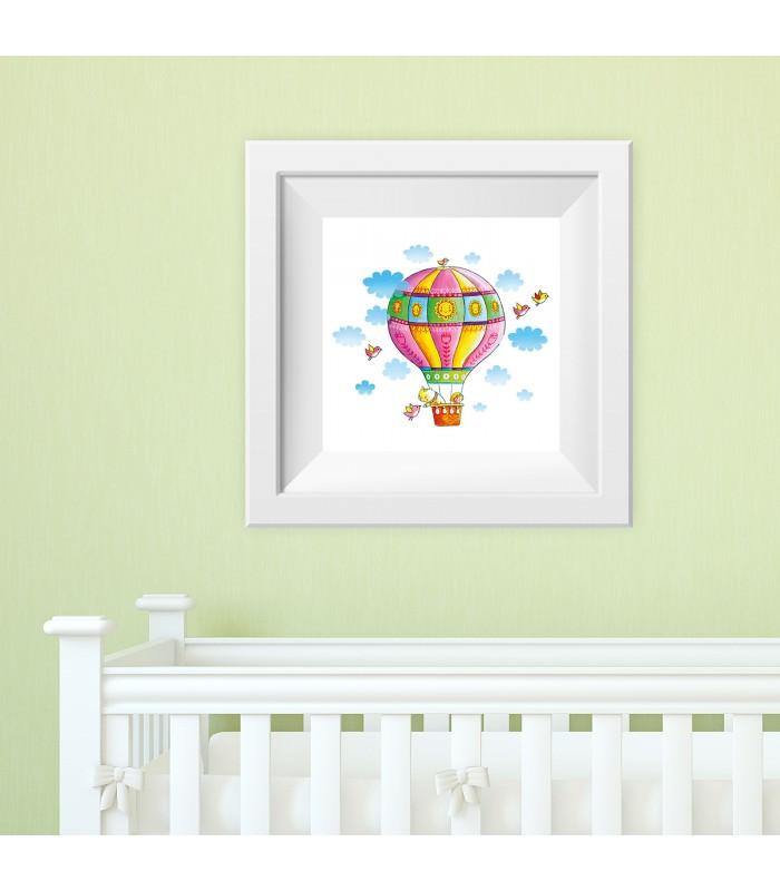 006 Kinderzimmer Bild Heissluftballon Poster Plakat