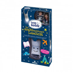 MOSES Lese Buddy- Das multifunktionale Leselicht Glitzer silber