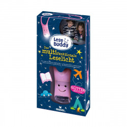 MOSES Lese Buddy- Das multifunktionale Leselicht Glitzer rosa