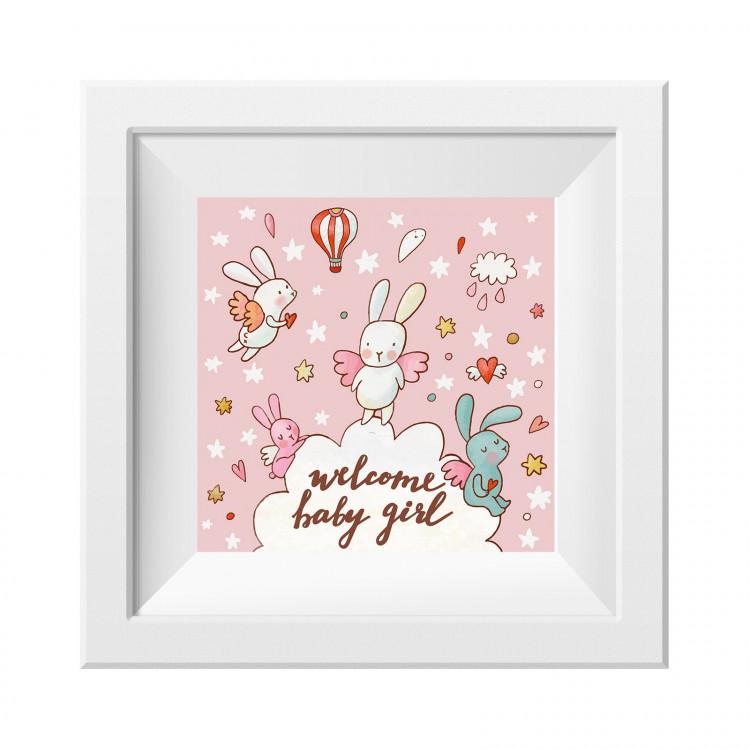 019 Kinderzimmer Bild Babygirl Poster Plakat quadratisch 20 x 20 cm (ohne Rahmen)