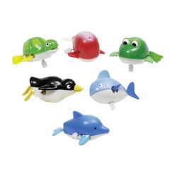 GOKI Wassertiere zum aufziehen - Wal, Delfin, Hai, Pinguin, Frosch