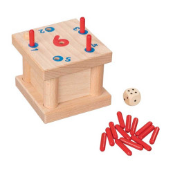 GOKI Steckspiel Die verflixte 6 aus Holz ab 5 Jahren