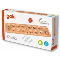 GOKI Massivholz Kalaha-Spiel zum klappen mit Halbedelsteinen