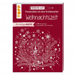 TOPP Vorlagenmappe Fensterdeko inkl. Kreidemarker - Weihnachtszeit