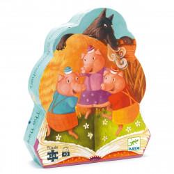 DJECO Puzzle: Die 3 kleinen Schweinchen - 24 Teile